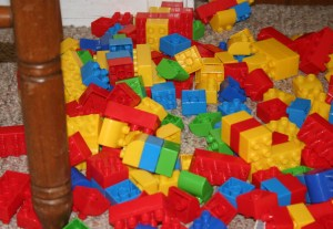 legos on the floor