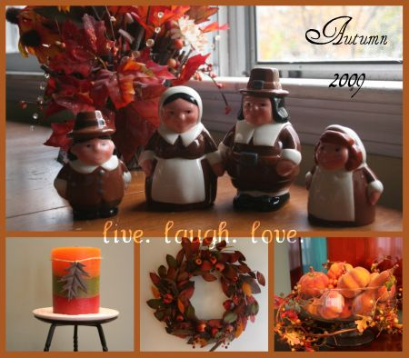 autumn deco collage